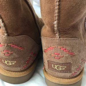 Brown Uggs with design